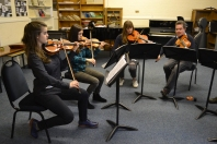 Mr Sewart coaching Brahms Sextet No. 2 from the Viola 2 chair, Feb 2015 Photo © Chloe Hayes