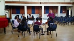Mr Garfield Jackson coaching Mendelssohn Octet